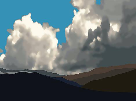 Stan  Magnan - San Jacintos with Cumulonimbus