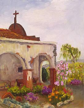San Juan Capistrano Mission Grounds by SharonJoy Mason