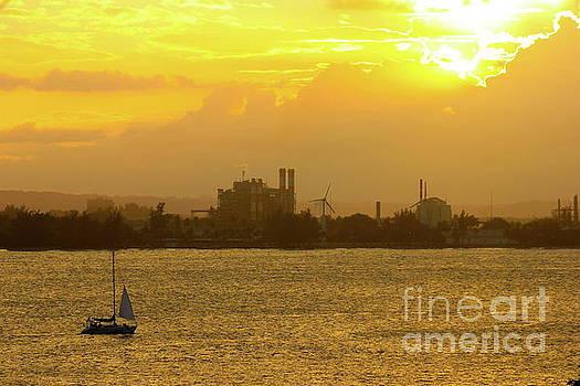 San Juan Harbor Sunset by The Art of Alice Terrill
