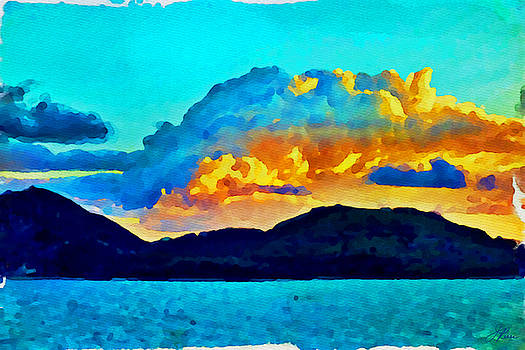San Juan Seascape by Joan Reese