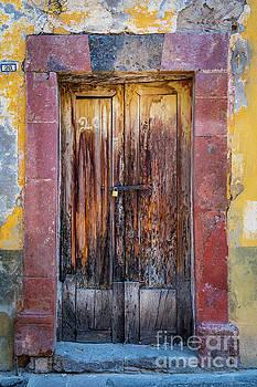 San Miguel Old Door by Inge Johnsson