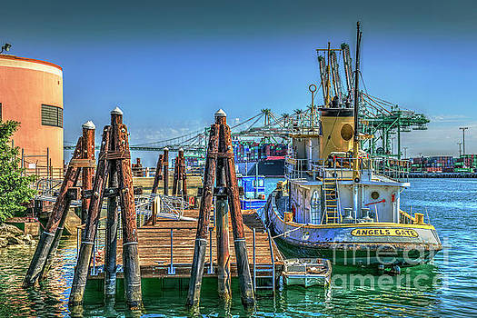 San Pedro Busy Port  by David Zanzinger