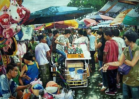 San Pedro Market Scene by Bong Perez