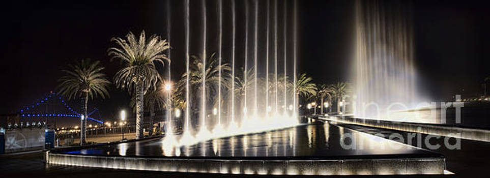 San Pedro Waterfront Fountain by Nick Carlson