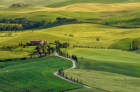 San Quirico d'Orcia-Tuscany by Georgette Grossman