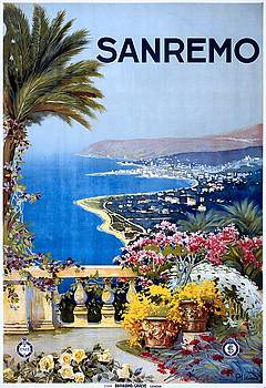 San Remo, travel poster for ENIT, ca. 1920 by Vintage Printery