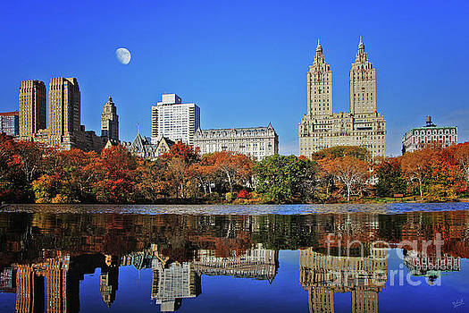 San Remo Twin Towers and Upper Manhattan Skyline Central Park by Nishanth Gopinathan