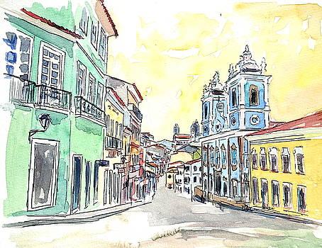 San Salvador de Bahia - Brazil Colonial Old Town by M Bleichner