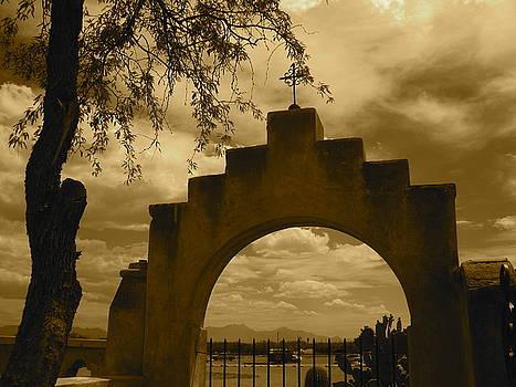 San Xavier - Gate by Chris Koval