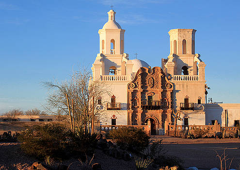 San Xavier Mission by Mauverneen Blevins