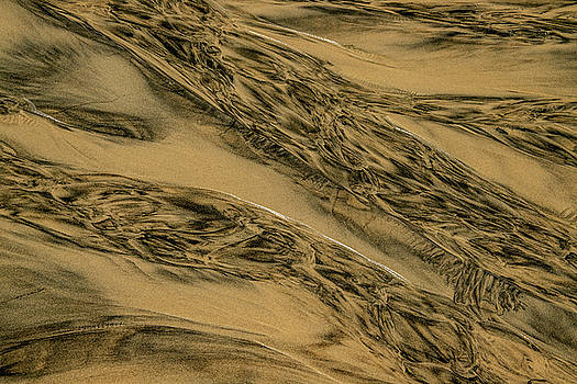 Sand And Water Abstract by Bill Gallagher