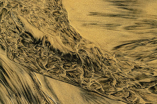 Sand And Water Abstract II by Bill Gallagher