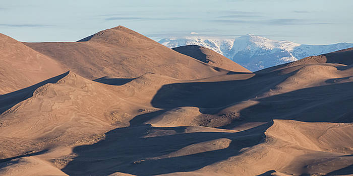 Sand Dunes And Rocky Mountains Panorama by James BO Insogna