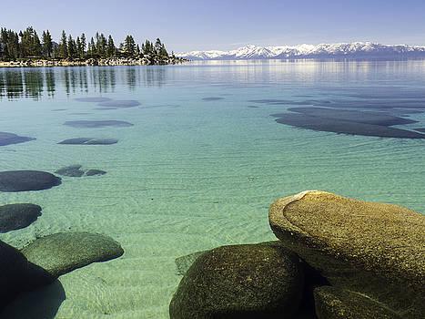 Sand Harbor underwater rocks by Martin Gollery
