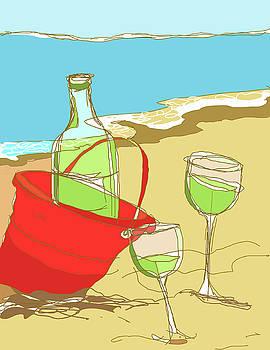 Peggy Wilson - Sand Pail Wine Bucket