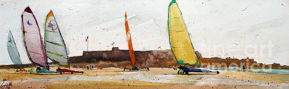 Sand yachting at Fort de Keragan by Andre MEHU