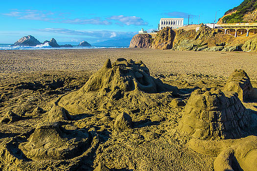 Sandcastles On The Beach by Garry Gay