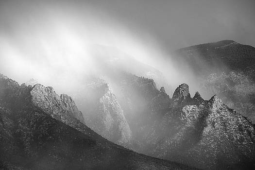 Sandia Storm in Black and White Detail by Mary Lee Dereske