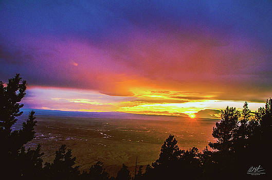 Sandia Sunset by Richard Estrada