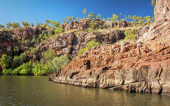 Sandstone cliffs at Katherine River Gorge, Australia by Daniela Constantinescu