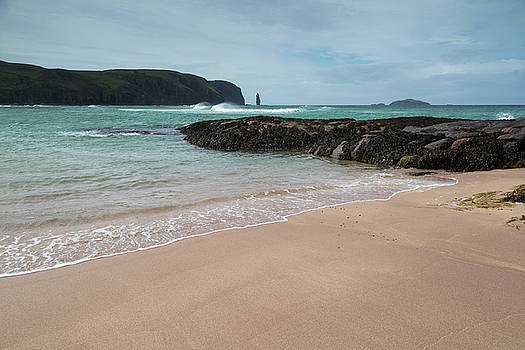 Sandwood Bay with Sea Stack by Derek Beattie