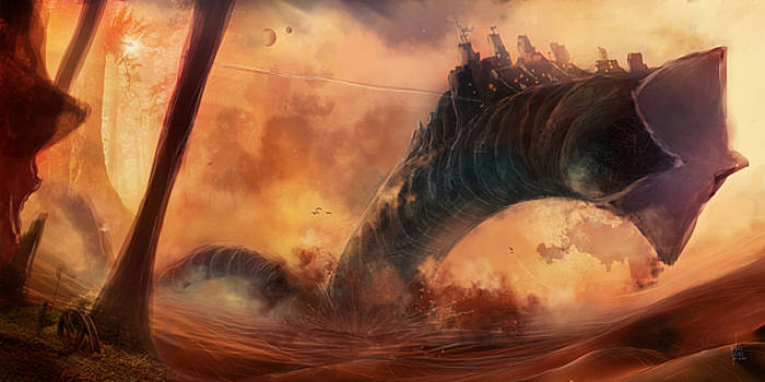 Sandworms of Desert Planet by Luis Peres