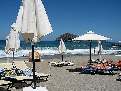 Sandy beach, Crete, Greece by Yuri Hope