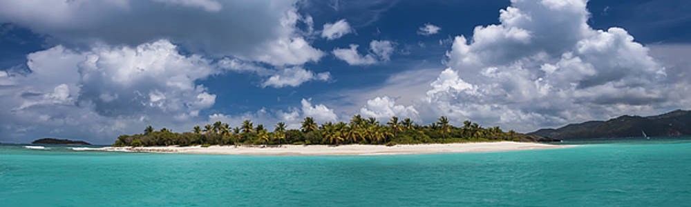 Sandy Cay Beach British Virgin Islands Panoramic by Adam Romanowicz