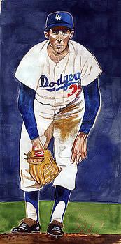Sandy Koufax LA Dodgers by Dave Olsen