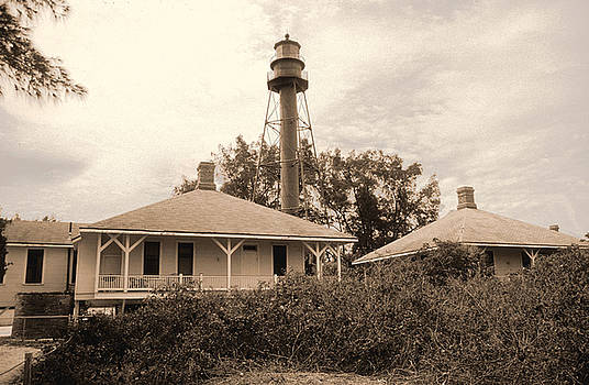 Sanibel Light house by Richard Nickson