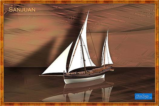 Sanjuan, an old wooden sailing sea vessel by Alfred Price