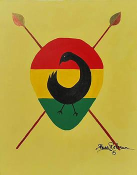 Sankofa Shield by Greg Roberson