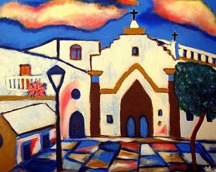Sanlucar Church Bajo de Guia by Ted Hebbler