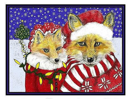 Santa and Ms Fox by Marla Saville
