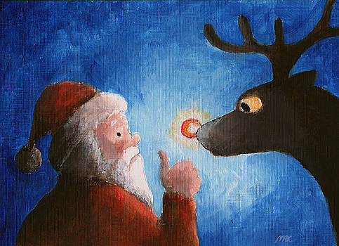 Santa and Rudolf by Michael Abcede