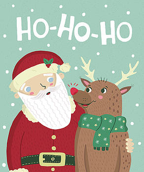 Santa and Rudolph by Nicole Wilson