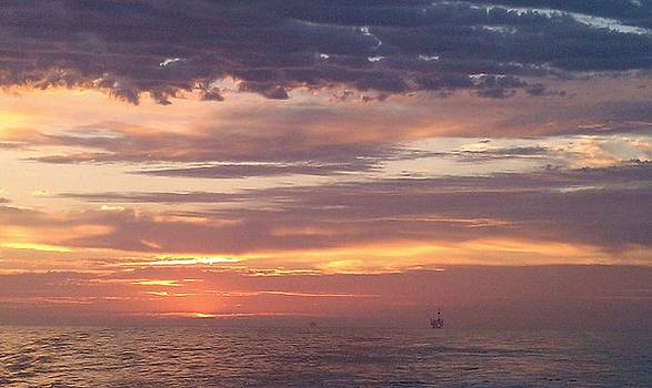 Santa Barbara Channel Sunset by Erin Villareal
