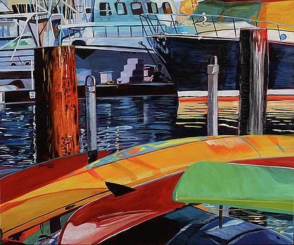 Santa Barbara Harbor by Pamela Trueblood