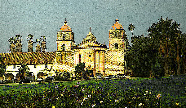 Santa Barbara Mission California by Art America Gallery Peter Potter