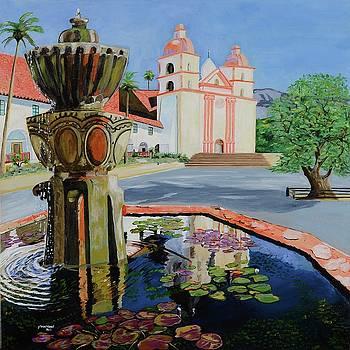 Santa Barbara Mission by Pamela Trueblood