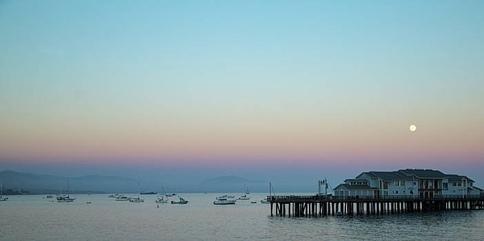 Santa Barbara pier at dusk by Andy Myatt