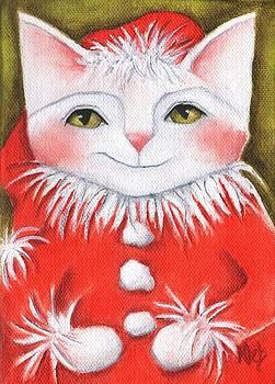 Santa Cat by Deb Harvey