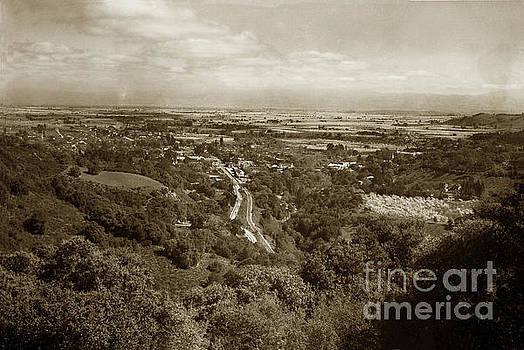 Santa Clara Valley from above Los Gatos Circa 1926 by California Views Mr Pat Hathaway Archives