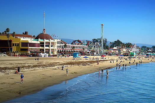 Santa Cruz Boardwalk by Joyce Dickens