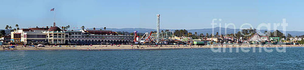 Santa Cruz Boardwalk Panorama by Gregory Dyer