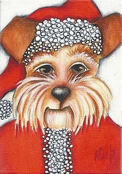 Santa Dog by Deb Harvey