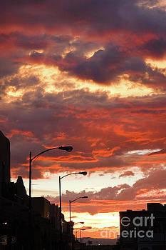Santa Fe at Dusk New Mexico by Julia Hiebaum
