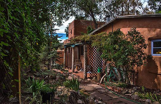 Santa Fe Courtyard by Richard Estrada