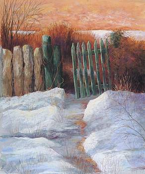 Santa Fe Gate by Candy Mayer