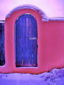 Santa Fe Gate in Snow by Diana Dearen